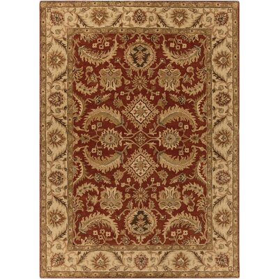 Arcadia Hand-Tufted Red Area Rug Rug Size: 8 x 11