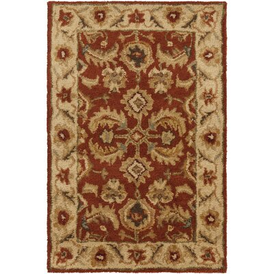 Arcadia Hand-Tufted Red Area Rug Rug Size: 2 x 3