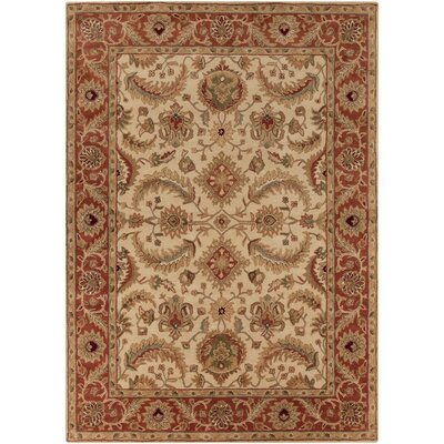 Arcadia Hand-Tufted Red/Brown Area Rug Rug Size: Rectangle 9 x 13