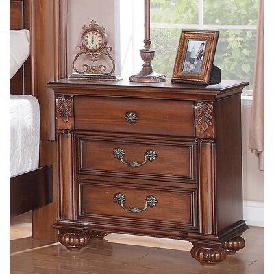 Leigh 3 Drawer Nightstand