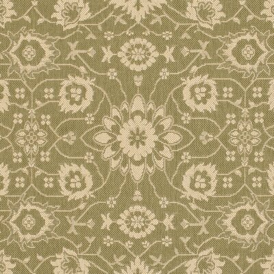 Beasley Olive/Creme Outdoor Area Rug Rug Size: Runner 27 x 5