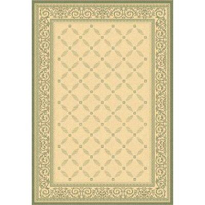 Beasley Natural/Olive Outdoor Rug Rug Size: 67 x 96