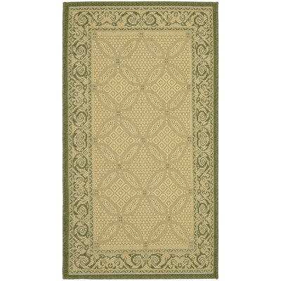 Beasley Natural/Olive Outdoor Rug Rug Size: Rectangle 27 x 5