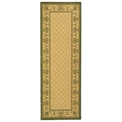 Beasley Natural/Olive Outdoor Rug Rug Size: Runner 24 x 911
