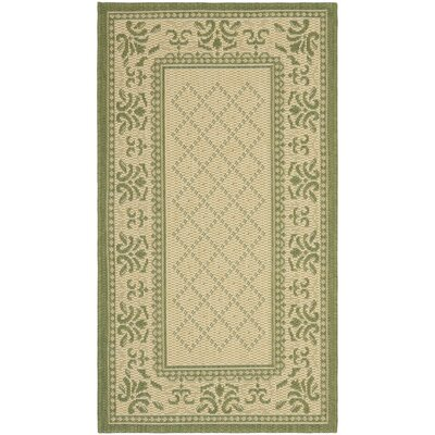 Beasley Natural/Olive Outdoor Rug Rug Size: Rectangle 2 x 37