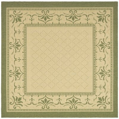 Beasley Natural/Olive Outdoor Rug Rug Size: Square 67