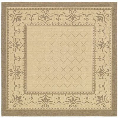 Beasley Vine Border Outdoor Rug Rug Size: Square 67