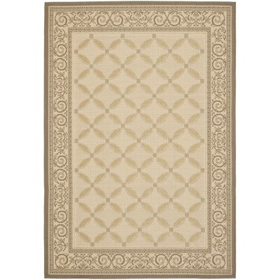 Beasley Beige/Dark Beige Indoor/Outdoor Rug Rug Size: Rectangle 27 x 5
