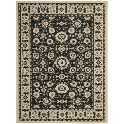 Beasley Creme/Black Indoor/Outdoor Area Rug Rug Size: Rectangle 53 x 77