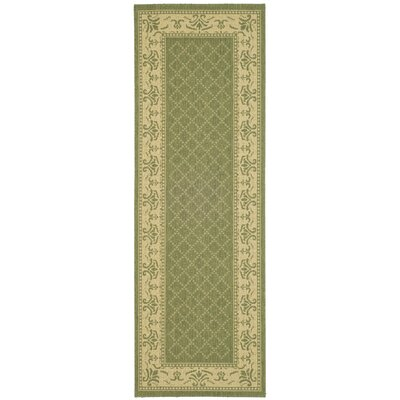 Beasley Olive/Natural Outdoor Area Rug Rug Size: Runner 24 x 911