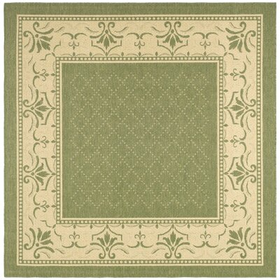 Beasley Olive/Natural Outdoor Area Rug Rug Size: Square 6'7