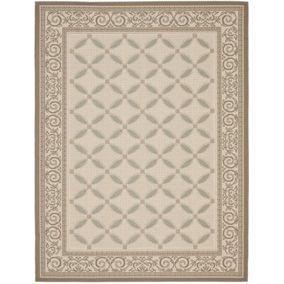 Beasley Beige/Dark Beige Indoor/Outdoor Rug Rug Size: Rectangle 53 x 77