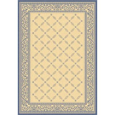 Beasley Garden Gate Ivory/Navy blue Rug Rug Size: Rectangle 2 x 37