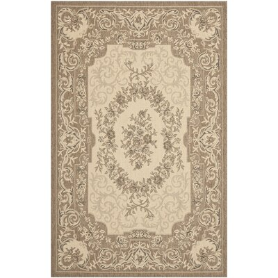 Beasley Creme/Brown Outdoor Rug Rug Size: 67 x 96
