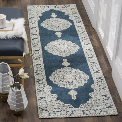 Howe Hand-Woven Blue Area Rug Rug Size: Rectangle 23 x 4