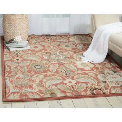 Moreton Brick Area Rug Rug Size: Rectangle 53 x 74