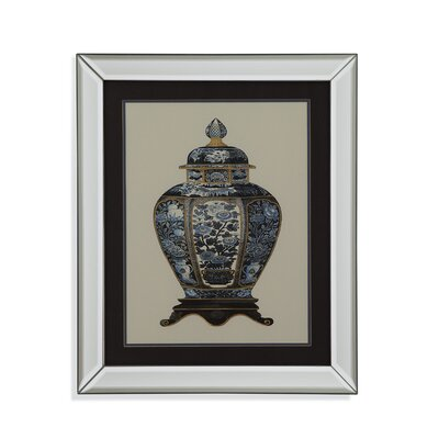 'Blue Porcelain Vase I' Framed Painting Print