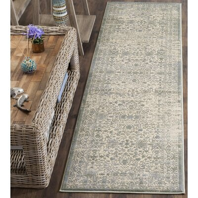 Roma Cream / Sage Area Rug Rug Size: Rectangle 4 x 6