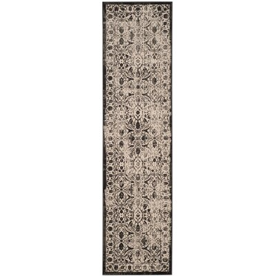 Roma Brown / Black Area Rug Rug Size: Runner 22 x 8