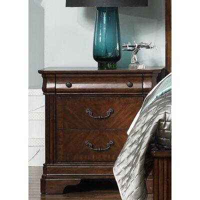 Abe 3 Drawer Nightstand