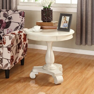 Charles End Table Finish: White