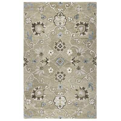 Fallinerlea Hand-Tufted Mocha Area Rug Size: Rectangle 9 x 12