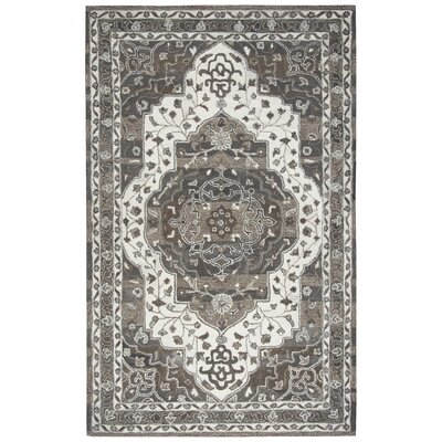 Byron Hand-Tufted Brown Area Rug Rug Size: 9 x 12