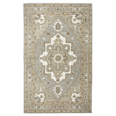 Byron Hand-Tufted Gray Area Rug Rug Size: Rectangle 8 x 10