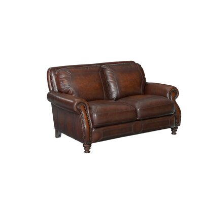 Goldhorn Leather Loveseat