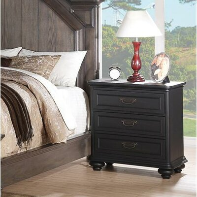 Beckles 3 Drawer Bachelor's Chest Finish: Raven Black