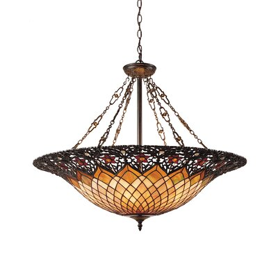 Almeda 6-Light Tiffany Inverted Pendant