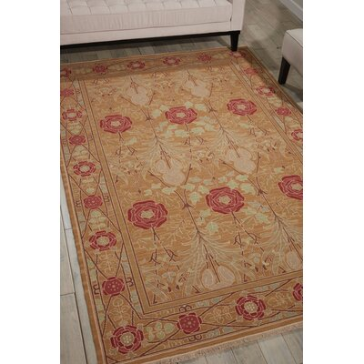 Dana Handmade Gold Area Rug Rug Size: Rectangle 710 x 910