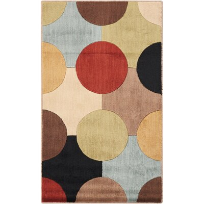 Alissa Red Area Rug Rug Size: 23 x 39