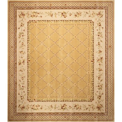 Christa Gold Area Rug Rug Size: 12 x 15