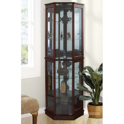 Biali Corner Curio Cabinet Finish: Walnut