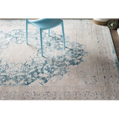 Prager Blue/Beige Area Rug Rug Size: Rectangle 51 x 76
