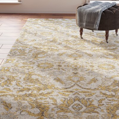 Sagebrush Ivory/Gold Area Rug Rug Size: Rectangle 51 x 76