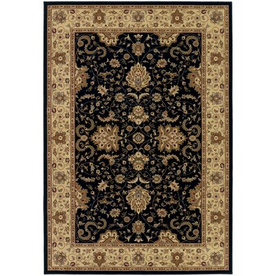 Belcourt Floral Black Area Rug Rug Size: Rectangle 710 x 112