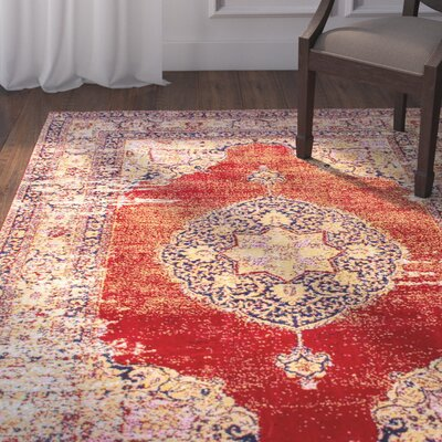 Watertown Red Area Rug Rug Size: Rectangle 5 x 8