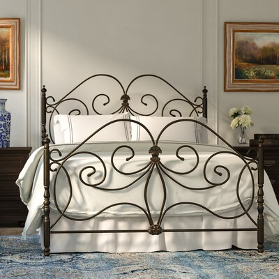 Kathy Open-Frame Headboard and Footboard Size: King