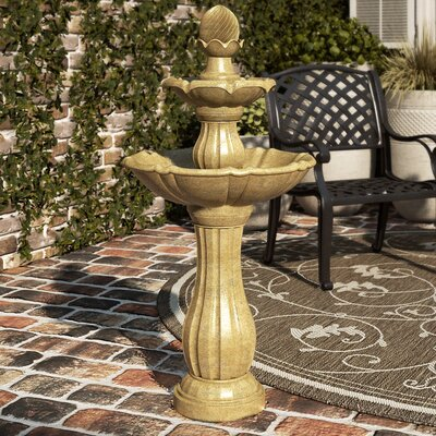 Chriswell Resin/Natural Stone Solar Floor Fountain
