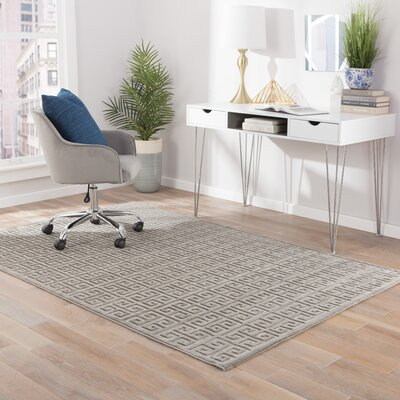 Edith Gray Area Rug Rug Size: 76 x 96