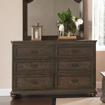 Broad Brook 6 Drawer Double Dresser Color: Old World Oak