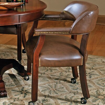 Mcbride Arm Chair Arm Chair Upholstery: Brown