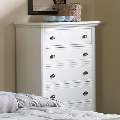 Alpinia 5 Drawer Chest Finish: White