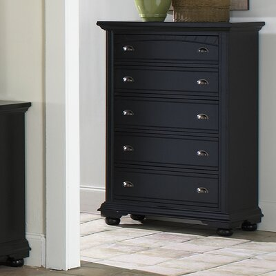 Alpinia 5 Drawer Chest Finish: Black