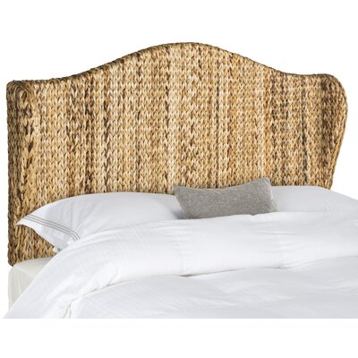 Wingback Headboard Upholstery: Natural, Size: King