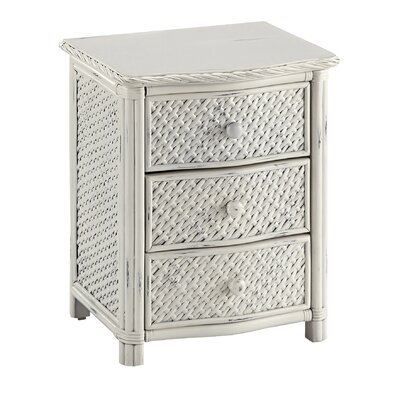 Dessie 3 Drawer Nightstand Finish: White