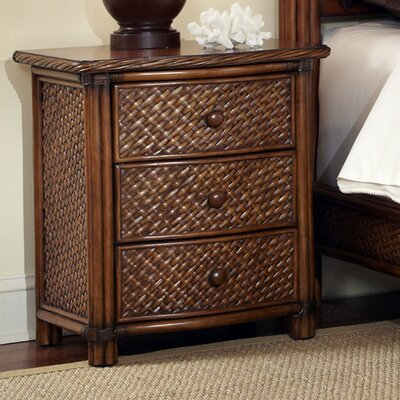 Dessie 3 Drawer Nightstand Finish: Cinnamon