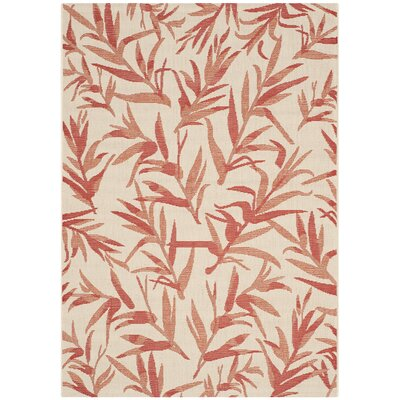 "Higgs Beige & Terracotta Area Rug Rug Size: Rectangle 4' x 5'7"" BCHH7829 41954489"